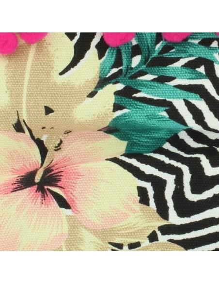 Cartera de flores tropicales