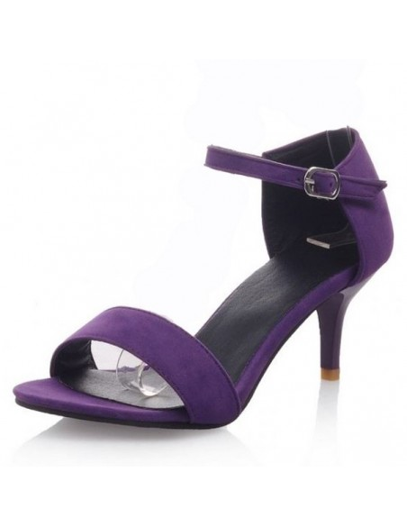 "Sandales ""Ipomee"" violet petite pointure femme chaussures"