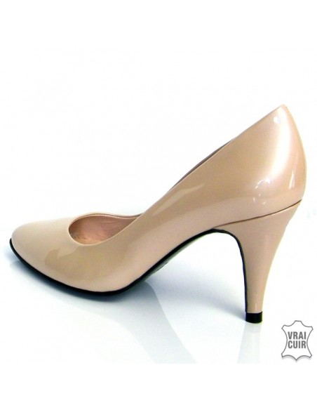 Escarpins nude vernis petite pointure femme cuir yves de beaumond 32 33 34 35