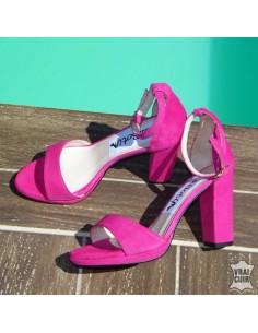 "Sandales ""Chica"" fuschia"