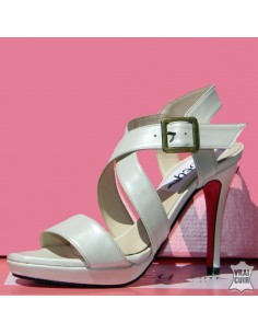 Sandales beige nacré petite pointure femme liliboty