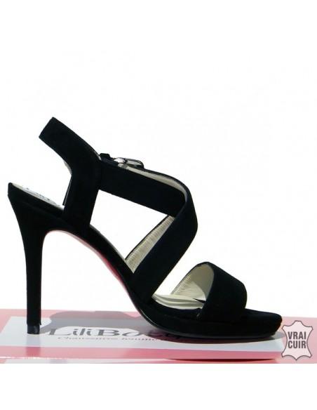 """Sandales noires """"Lora2"""""""