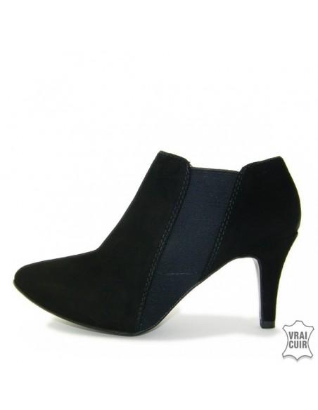 Low boots noirs petites pointures femme