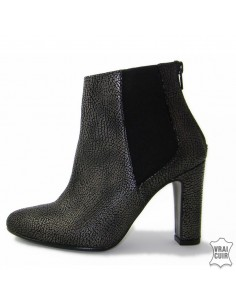 """Yves de beaumond """"Mi-104"""" heeled ankle boots, small women, size 32 33 34 35"""