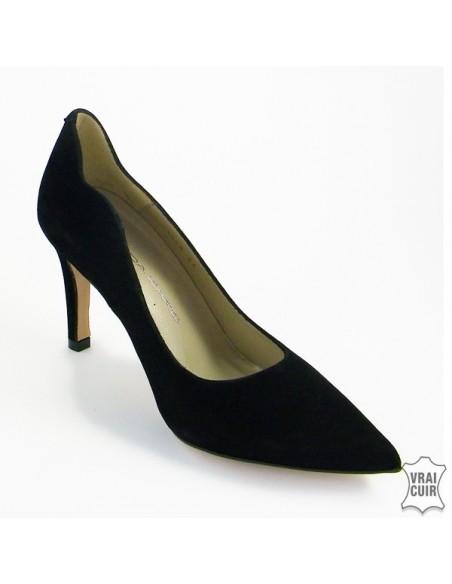 "Escarpins noirs ""F1678"" glamour cuir petite pointure femme brenda zaro"