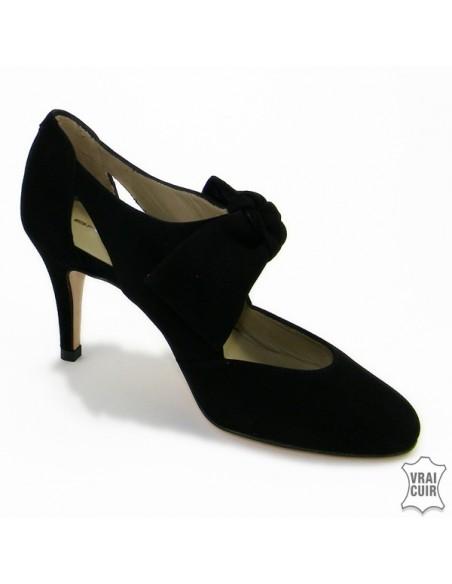 "Escarpins noirs Mary Jane ""F2396"" brenda zaro petite pointure femme"