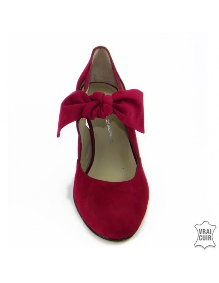 "Escarpins rouges Mary Jane ""F2396"" brenda zaro petite pointure femme"