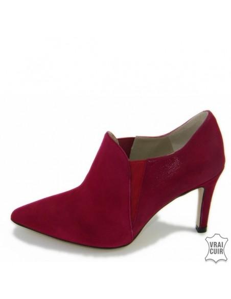 """מגפיים אדומים נמוכים """"F2384"""" ברנדה זארו בגודל אישה קטנה"""