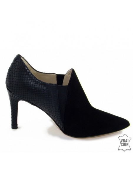 "Low boots noirs ""F2384"" brenda zaro petite pointure femme"