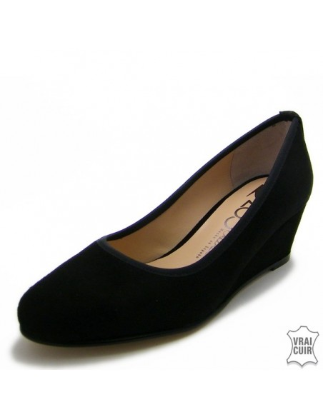 """Escarpins noirs à talons compensés """"ZC00139W"""" zoo calzados petite pointure femme"""
