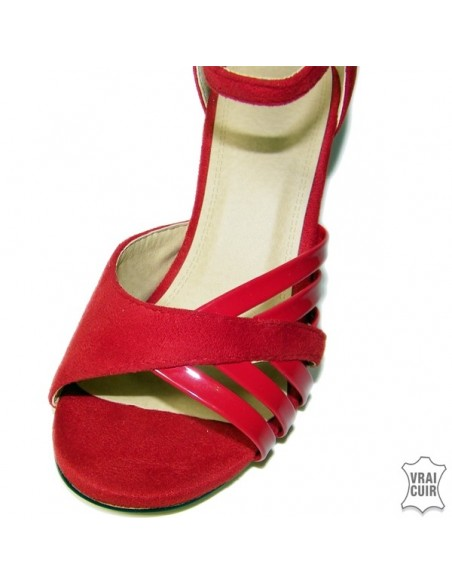 Sandales petites pointures pour femme, talons, rouge ,noir