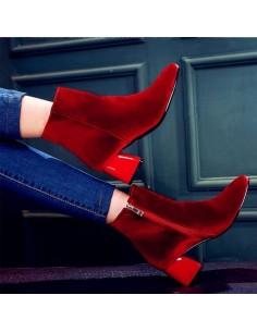 """Bottines rouges """"Dorothy"""" pointure 33 pointure 34 femme"""