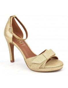 Sandales habillées, cuir glitter or, 8478, Dansi, chaussure femme petites pointures mariage