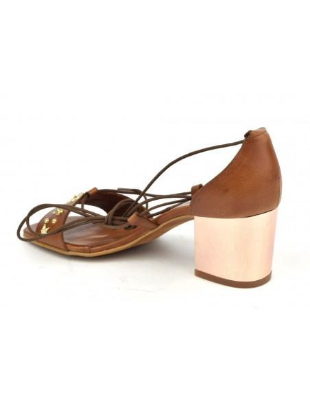 Sandales cuir lisse marron, 8382, Dansi