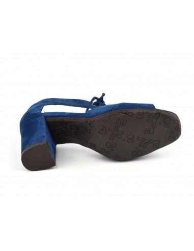 RoyalTalons Cuir B Sandales Lacets Daim CarrésBlauBella Bleu ZOPiTkwXu
