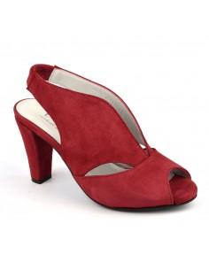 Sandales originales cuir daim rouge passion, Valencia, Bella B, femme petite pointture
