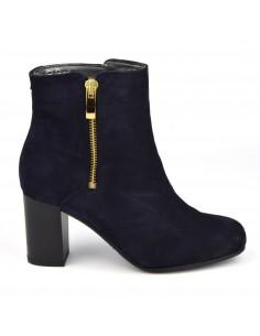Bottines femmes, petits pieds, Blonx, Bella B, daim bleu marine