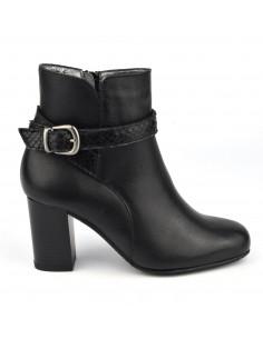 Bottines, boots, brides élégantes, cuir lisse noir, petites pointures, Blair, Bella B