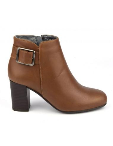 Boots femme petites tailles, cuir lisse marron, Blague, Bella B