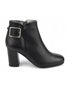 Boots femme petites tailles, cuir lisse noir, Blague, Bella B