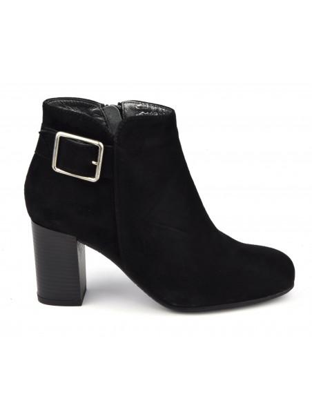 Boots boucle, suedine noir,Bella B, Blague