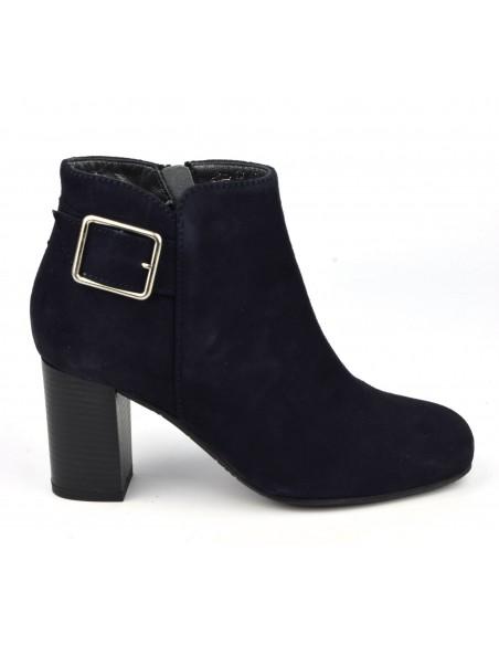 Boots daim marine, petites pointures, Blague, Bella B