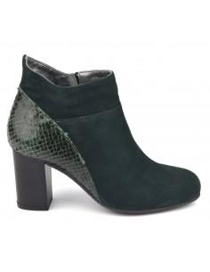 Boots chics, cuir suedine, vert bouteille, Blet, Bella B, chaussure femme petite pointure