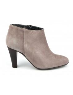 Low boots, cuir suédine, gris rosé, Valos, Bella B, petites pointures