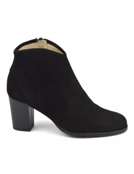 Bottines cuir daim noir, FZ97586, Brenda Zaro, femme petits pieds