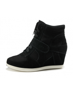 Black wedge sneakers Small size