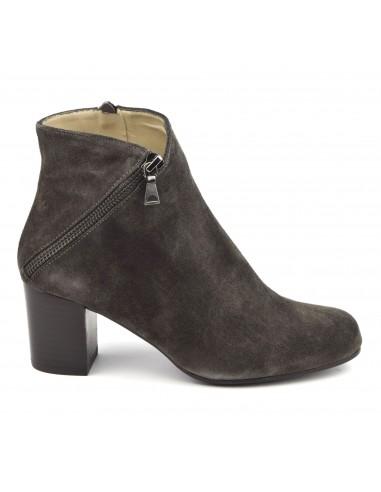 Bottines cuir gris foncé, FV1799, Brenda Zaro, femme, petits pieds
