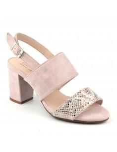 Sandales talons épais, cuir suédine, roses, Bling, Bella B, pointure 33, pointure 34
