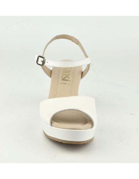 Sandales CompenséesCuir Sandales CompenséesCuir Lisse Lisse Blanc8332Dansi bI6g7yYfv