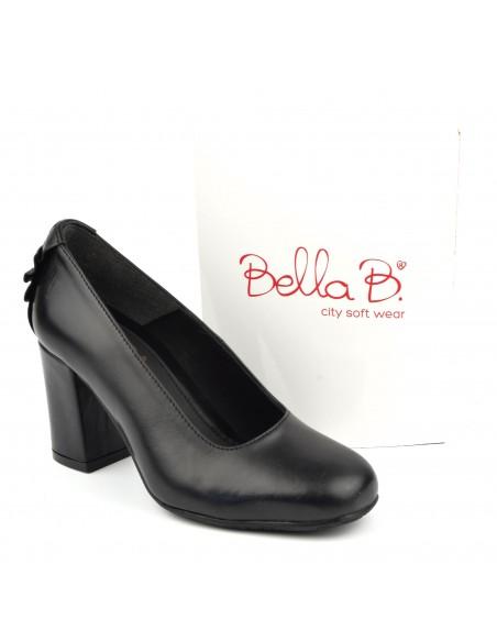 Escarpins talons épais, cuir lisse, noir, Bleko, Bella B, pointure 33, pointure 34