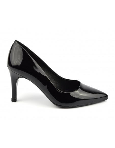Escarpins cuir verni noir, 8433 Dansi, petites pointures - Vu de profil