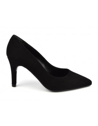 Escarpins suédine noir, 8433 Dansi, petite pointure - Vu de profil