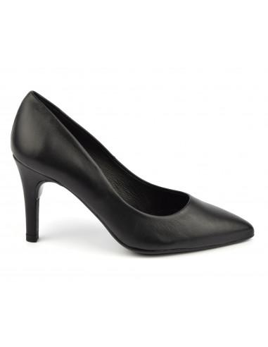 Escarpins cuir lisse noir, 8433 Dansi, petites pointures - Vu de profil