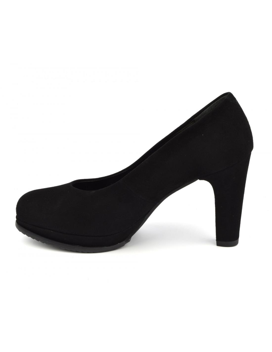Escarpins plateforme, cuir daim noir, 1, Dansi