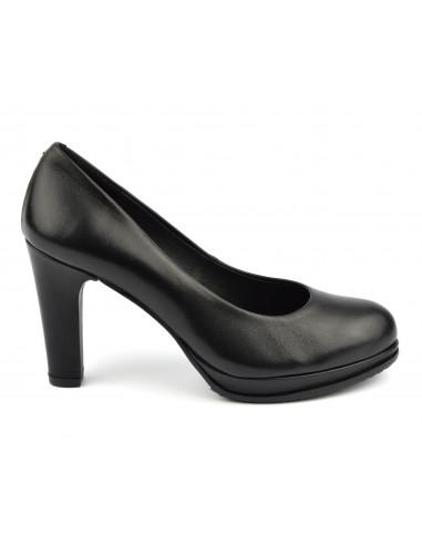 Escarpins plateforme, cuir lisse noir, 1, Dansi
