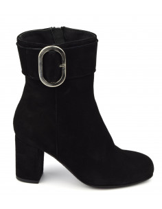 Ankle boots, black suede, size 33, size 34, Blafy, Bella B