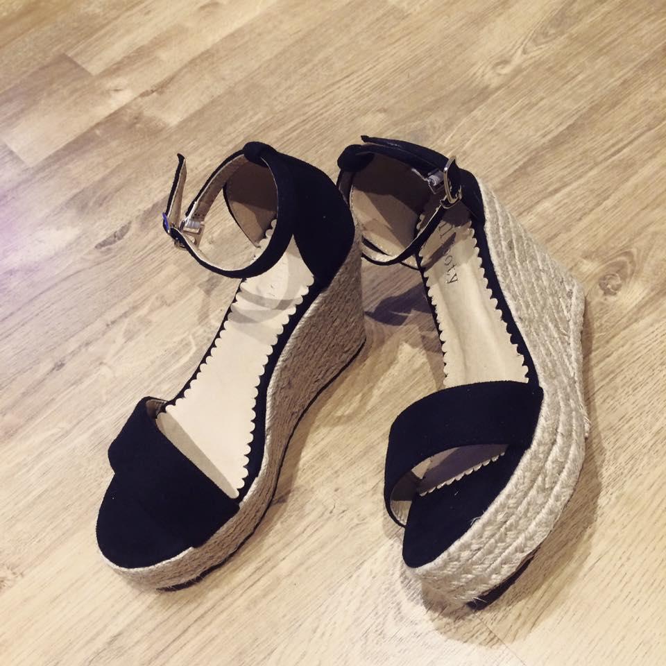 sandales compensées petite pointure femme