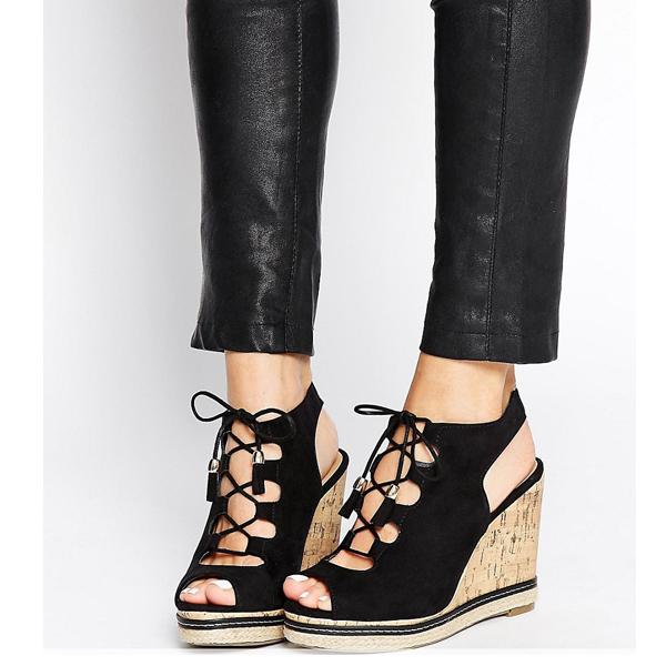 sandales à talons compensés en petite pointure pour femme, pointure 31 32 33 34 35